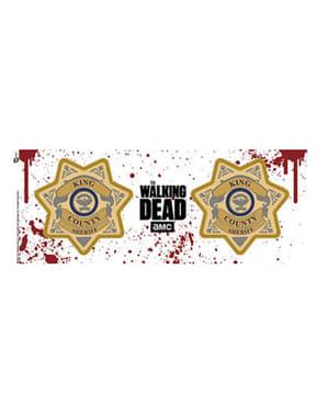Tasse Walking Dead Sheriff-Plakette