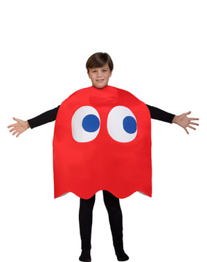 Kids Blinky Ghost Costume - Pac-Man