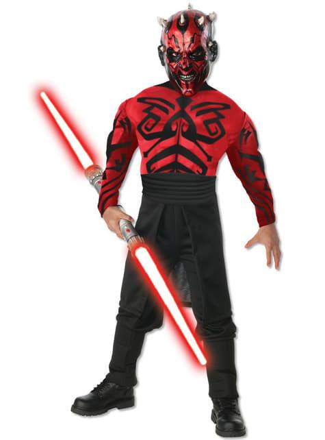 Deluxe Gespierd Darth Maul kostuum voor jongens