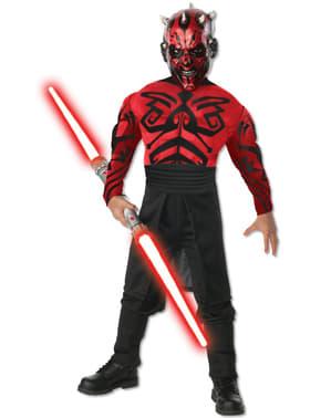 Costume Darth Maul muscoloso Deluxe da bambino