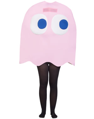 Kids Pinky Ghost Costume - Pac-Man