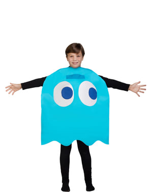 Inky spøgelsesKostume til børn - Pac-Man