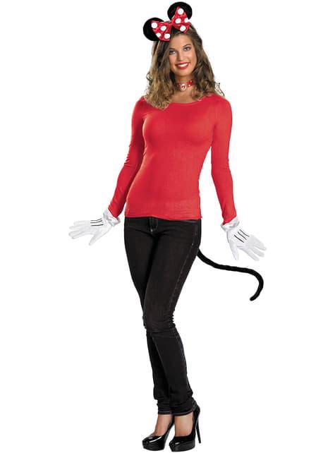 Kit de acessórios Minnie Mouse Vermelho para adulto