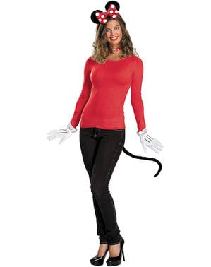Kit d'accessoires Minnie Mouse rouge adulte
