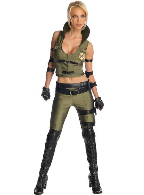 Sonya Blade Mortal Kombat kostuum voor volwassenen
