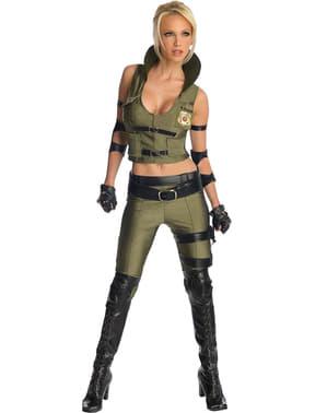 Costume Sonya Blade Mortal Kombat donna