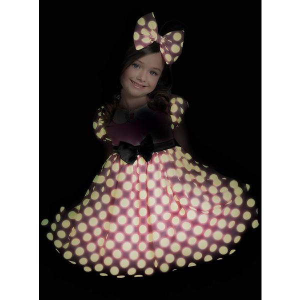 Disfraz de Minnie Mouse Clubhouse Rosa brillante en la oscuridad para