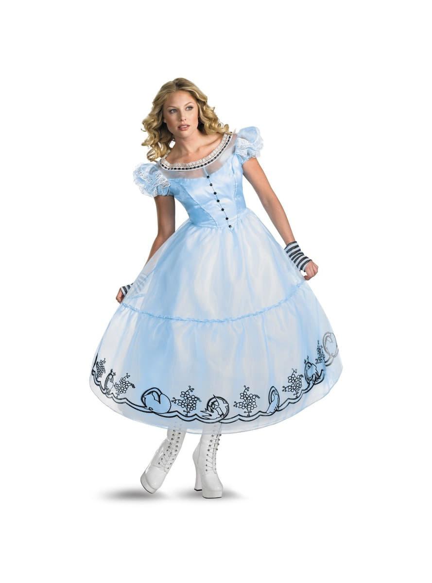 d07d39e6e3f Alice In Wonderland Costume Womens & Alice In Wonderland Movie Adult ...