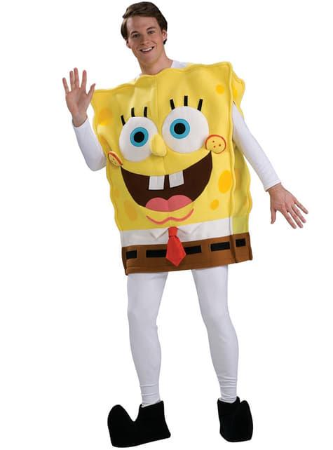 Deluxe Spongebob kostuum voor volwassenen