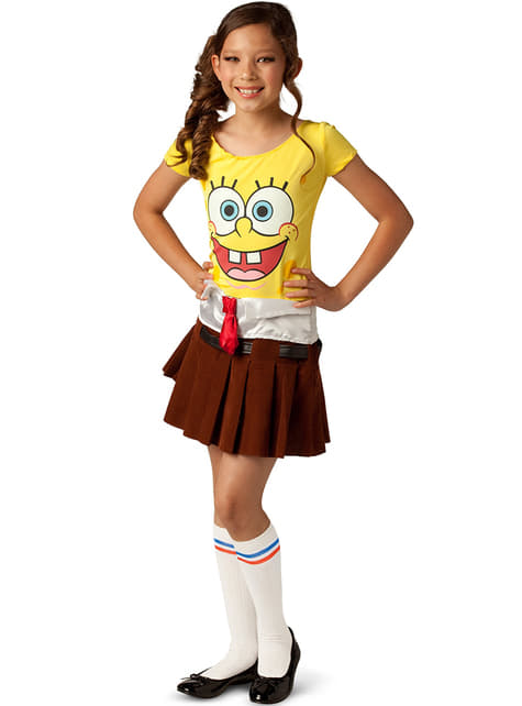 Spongebob kostuum voor meisjes