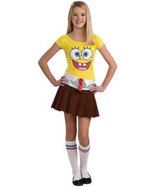 Disfraz de Bob Esponja para niña