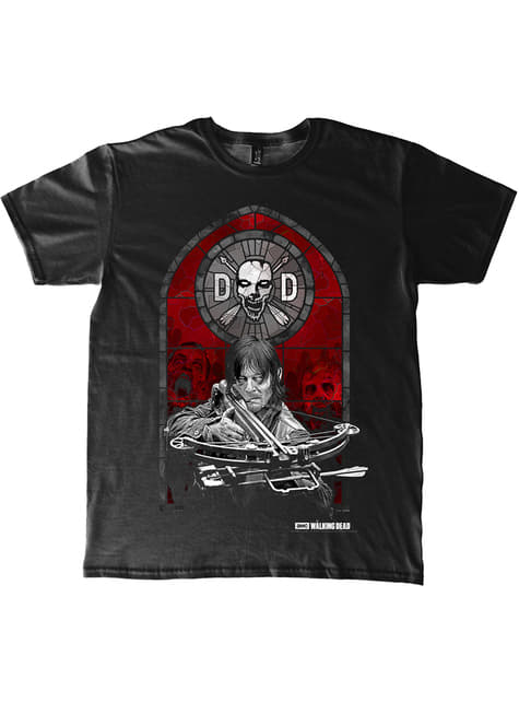 T-shirt The Walking Dead Stained Glass