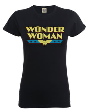 Top Dc Originals Wonder Woman Logga Svart dam
