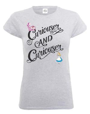 T-shirt de Alice no País das Maravilhas Curiouser & Curiouser para mulher