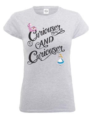 Tricou Alice în Țara Minunilor Curiouser & Curiouser pentru femeie