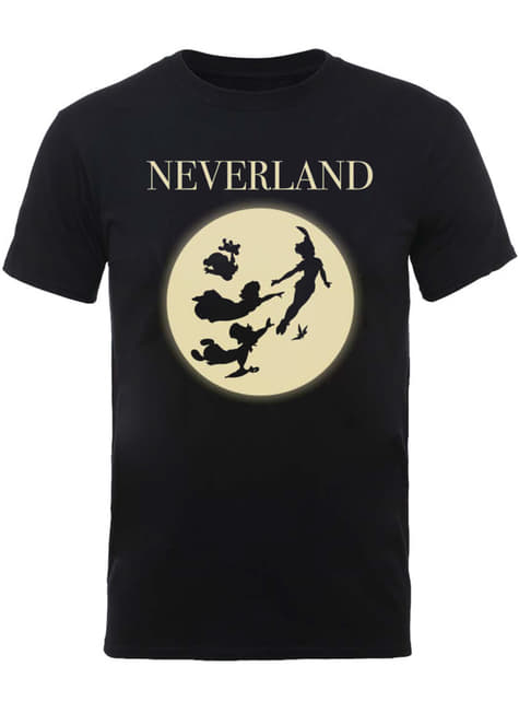 Mond Silhoutte T-Shirt für Herren Peter Pan