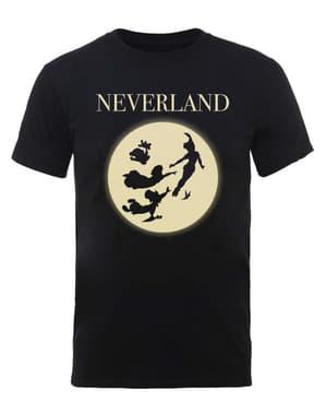 男性のためのピーターパンムーンシルエットのTシャツ -