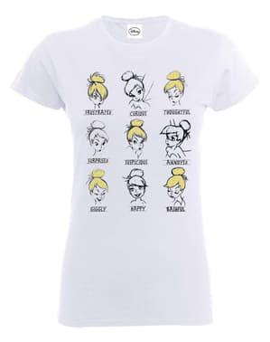 女性のためのティンカーベルムードTシャツ