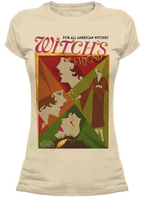T-shirt de Monstros Fantásticos e Onde Encontrá-los All American Witches para mulher