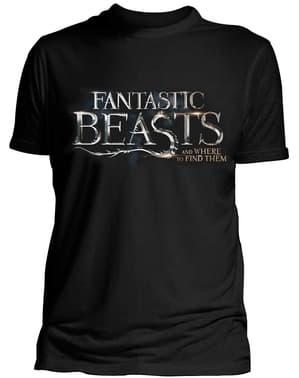 T-shirt de Monstros Fantásticos e Onde Encontrá-los Logo para homem