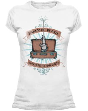 Dámské tričko Fantastická zvířata a kde je najít s motivem poudra na hůlku