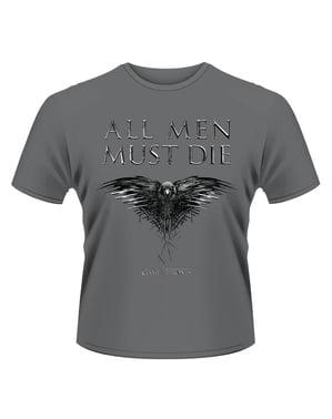 Maglietta di Game of Thrones All Men Must Die per uomo