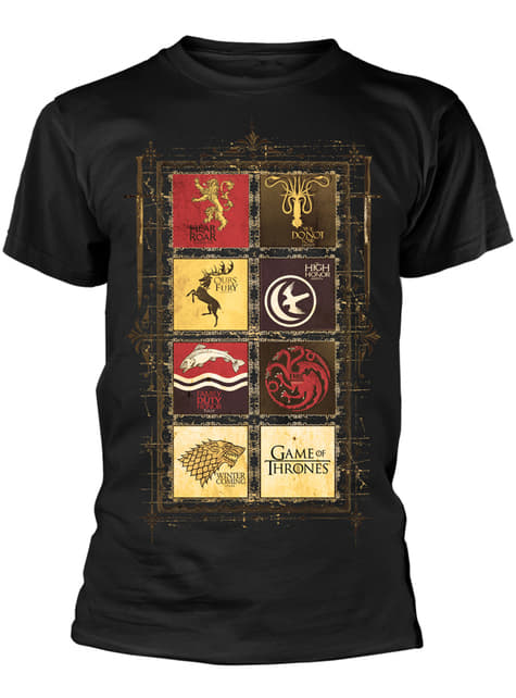 T-shirt Game of Thrones emblèmes