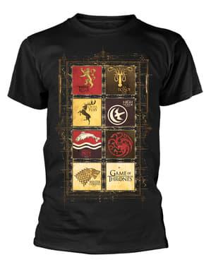 חולצת טריקו עם סמלי משחקי הכס