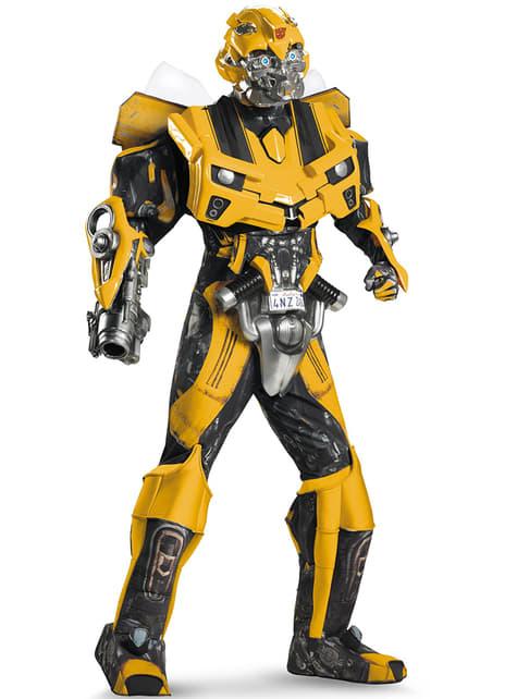 Fato de Transformers Bumblebee Dark of the Moon Élite para adulto
