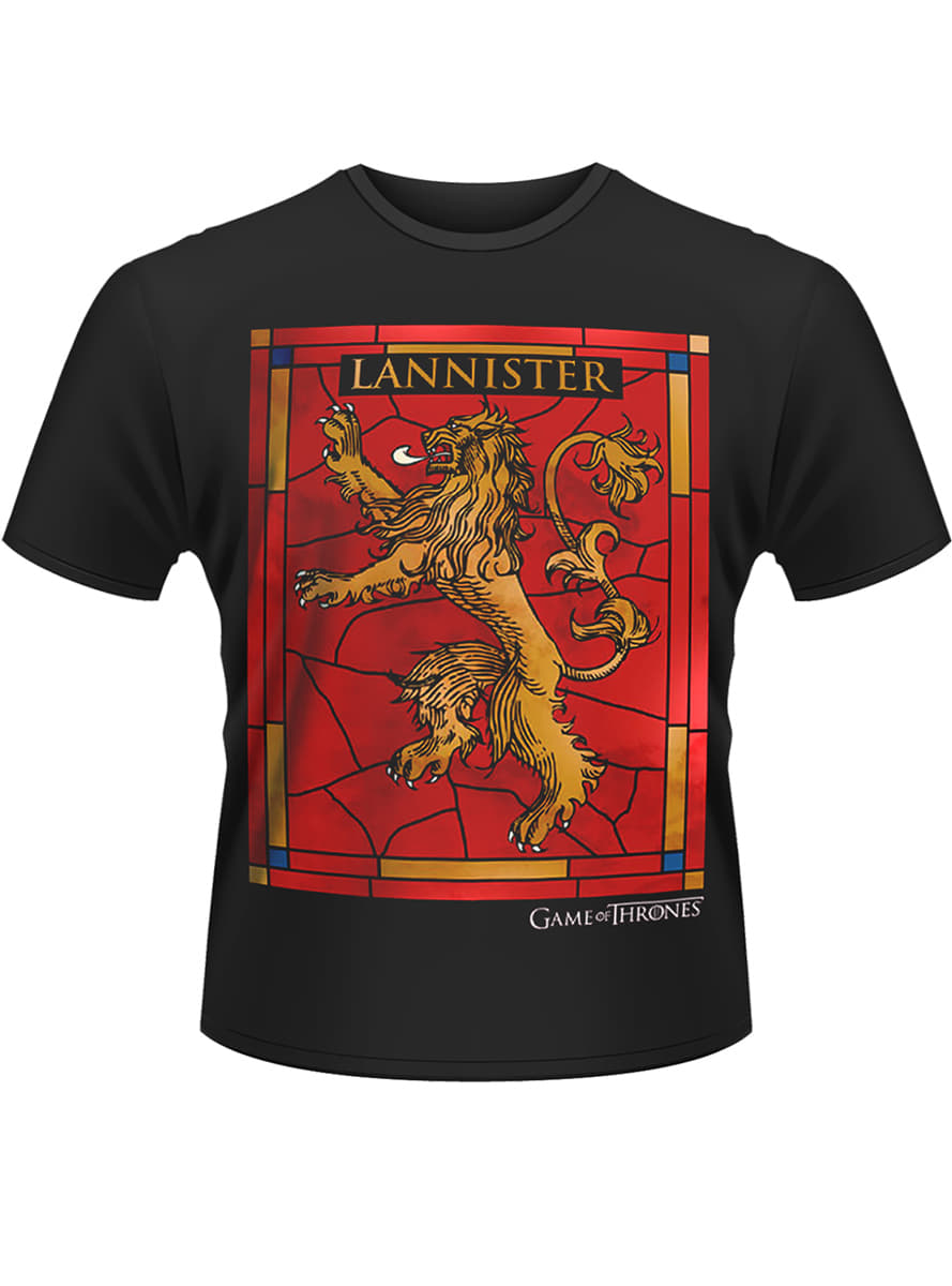 Game of thrones house lannister t shirt funidelia for Throne of games shirt