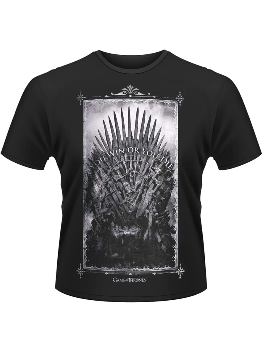 Game of thrones iron throne t shirt funidelia for Throne of games shirt