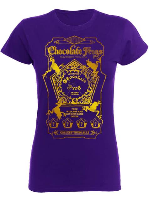 Camiseta de Harry Potter Chocolate Frogs para mujer