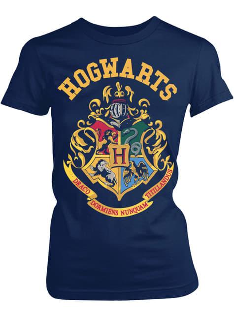 T-shirt de Harry Potter Hogwarts Crest para mulher