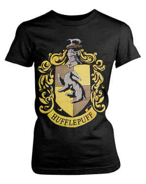 Hufflepuff Crest T-Shirt für Damen Harry Potter