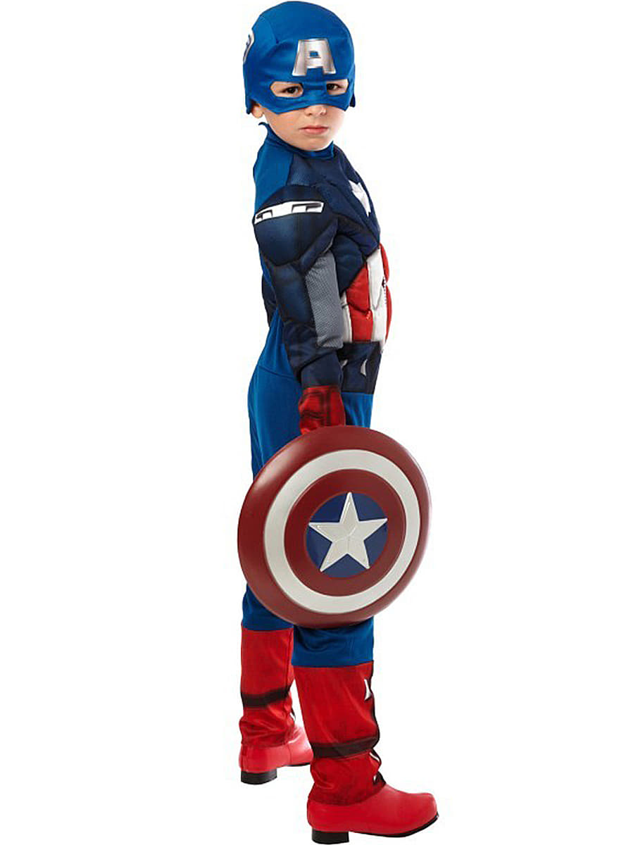Muscly captain america the avengers child costume buy online at