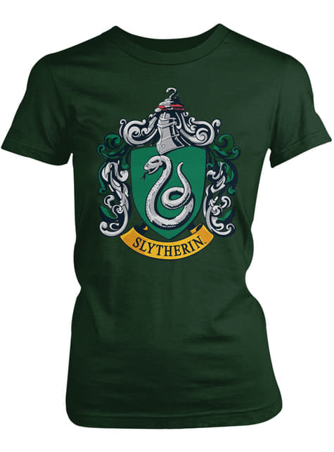 Camiseta de Harry Potter Slytherin Crest para mujer