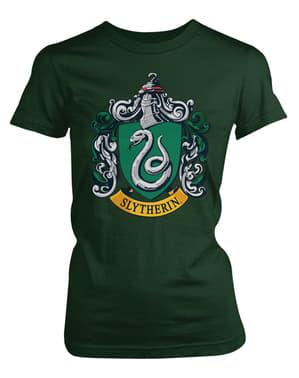 महिलाओं के लिए हैरी पॉटर स्लीथेरिन क्रेस्ट टी-शर्ट