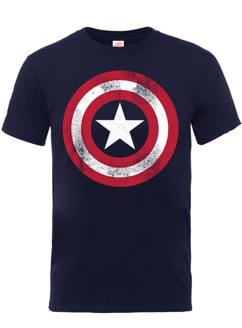 Camiseta de Capitán América Distressed Shield