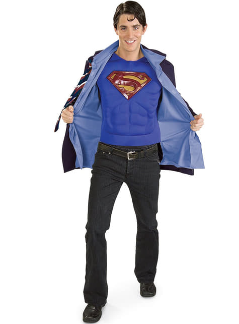 Clark Kent en Superman kostuum