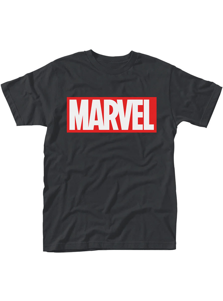 marvel comics logo t shirt f r herren funidelia. Black Bedroom Furniture Sets. Home Design Ideas