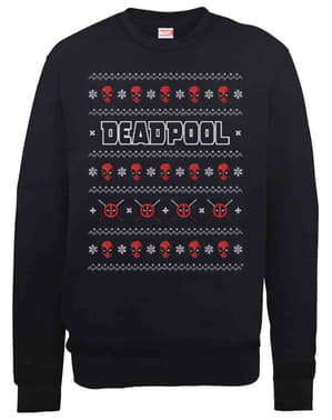 Pulover Deadpool Christmas Crew tricotat
