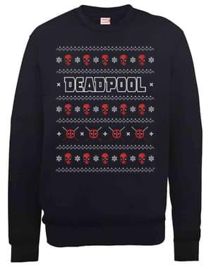 Pull Deadpool Christmas Crew en maille