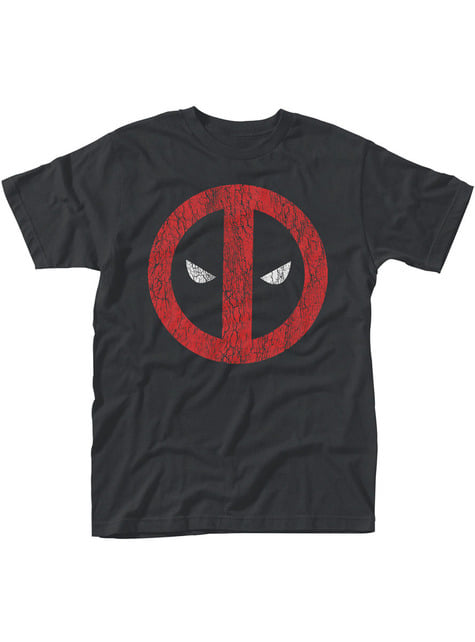 Camiseta de Deadpool Cracked Logo para hombre