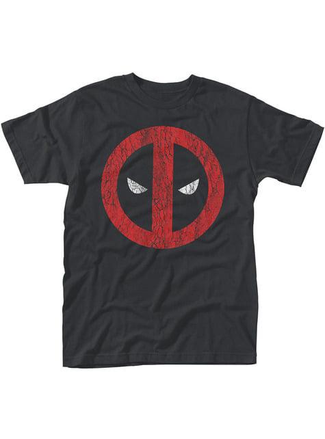 T-shirt de Deadpool Cracked Logo para homem