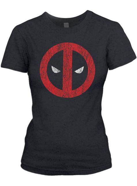 T-shirt de Deadpool Cracked Logo para mulher