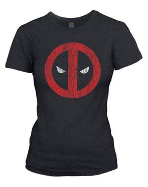 Koszulka Deadpool Cracked Logo damska