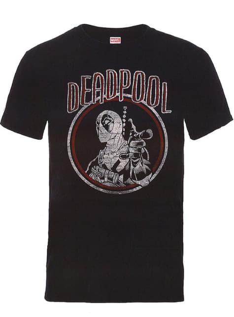 Tričko Deadpool vintage kruh