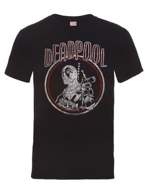 Deadpool Gammeldags Sirkel t-skjorte