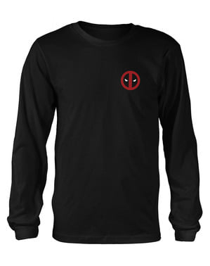Deadpool Fade Out Logo Langarmshirt