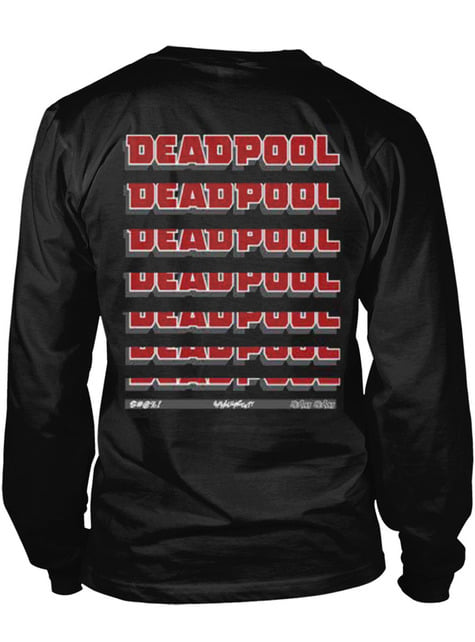 T-shirt de Deadpool Fade Out Logo de manga comprida